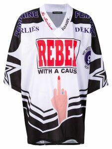 Marlies Dekkers Feminist Rebel American football jersey T-shirt -
