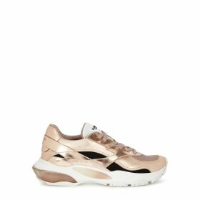 Valentino Garavani Bounce Mesh And Leather Sneakers