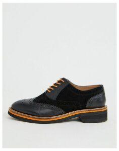 ASOS DESIGN Misse leather brogues in black