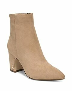 Sam Edelman Women's Hilty Pointed Toe Block High-Heel Ankle Booties