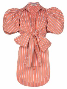 Silvia Tcherassi Primula striped puff sleeve blouse - Red