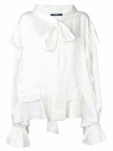 Faith Connexion oversized ruffled blouse - White