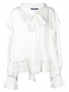 Faith Connexion oversized ruffled blouse - White