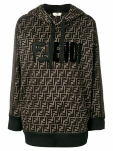 Fendi classic FF logo hoodie - Brown