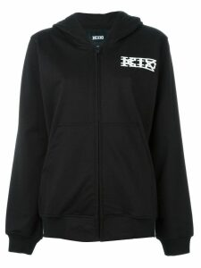 KTZ logo print hoodie - Black