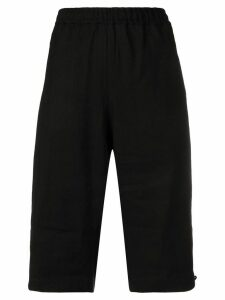 Y-3 paper cotton shorts - Black