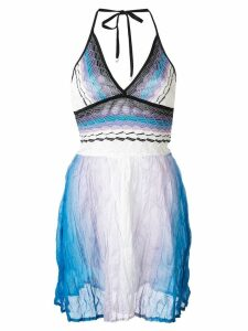 Missoni Mare knitted beach dress - Blue