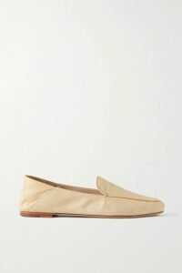 PAPER London - Striped Ribbed Wool Turtleneck Sweater - Black