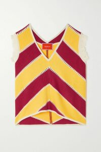 AMBUSH® - Striped Satin-jersey Track Jacket - Red
