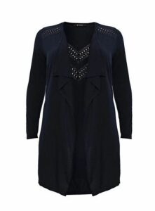 Navy Blue Waterfall Cardigan, Navy