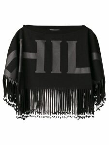 Philosophy Di Lorenzo Serafini fringed hem jumper - Black