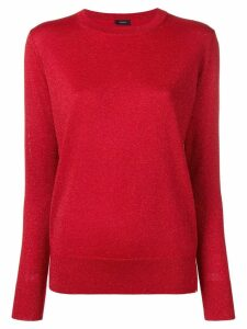 Joseph round neck jumper - Red