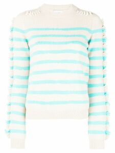 Barrie striped sweater - NEUTRALS