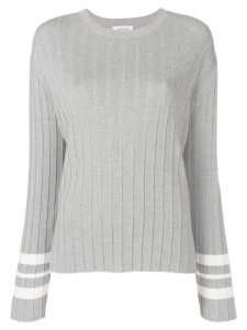Thom Browne Trompe L'oeil Pleat Pullover - Grey