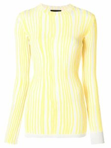 Calvin Klein 205W39nyc striped sweater - Yellow