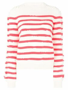 Barrie striped sweater - Red