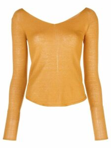 Lemaire wide V-neck jumper - Yellow