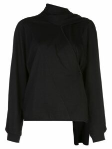Lemaire scarf neck jumper - Black