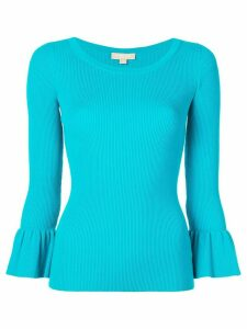 Michael Kors Collection knit flared sleeve top - Blue