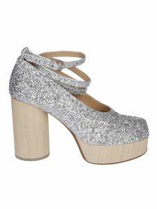 Maison Margiela Glittered Platform Sandals