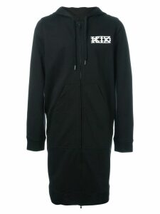 KTZ long zipped hoodie - Black