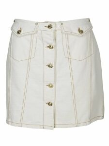 Versace Jeans Couture Buttoned Mini Skirt