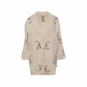 IMAIMA - Naia Hand-Embroidered Coat In Cream