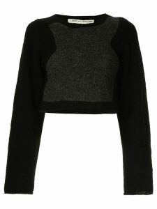 Comme Des Garçons Pre-Owned cropped knitted top - Black