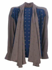 Gianfranco Ferré Pre-Owned contrast blouse - Blue