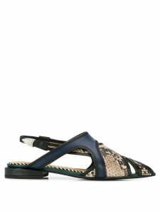 Toga Pulla snakeskin effect sandals - NATURAL