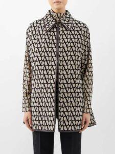Gül Hürgel - Cap-sleeve Gathered Linen Midi Dress - Womens - Black