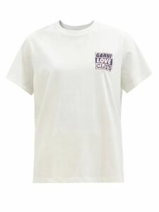 Gül Hürgel - Belted Floral-print Linen Mini Dress - Womens - White Multi