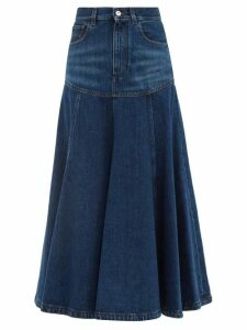 Gül Hürgel - Floral-print Linen Midi Dress - Womens - White Multi