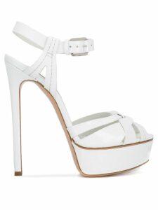 Casadei Flora platform sandals - White