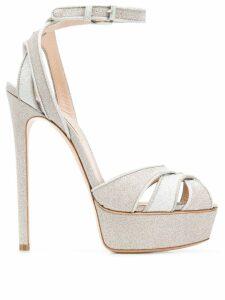 Casadei Flora glitter sandals - Gold