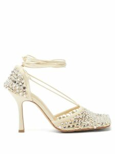 Isabel Marant - Rowina Lace Insert Poplin Mini Dress - Womens - Black