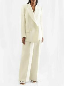 Bottega Veneta - Intrecciato-tab Cashmere Sweater - Womens - Burgundy