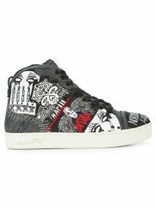 Haculla Nobody's Safe graphic high top sneakers - Black