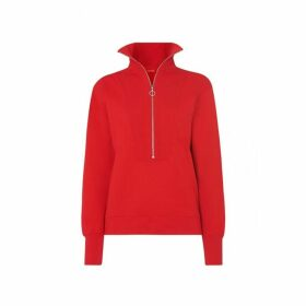 Kitri Francine Red Zip Sweatshirt