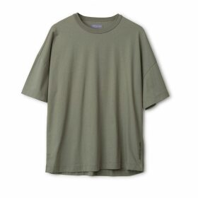 Urban Collective - Oversized Cotton T-Shirt Deep Lichen Green