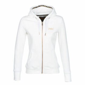 Superdry  ORANGE LABEL ELITE ZIPHOOD  women's Sweatshirt in White