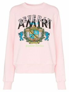 Amiri beverly hills cotton sweatshirt - PINK