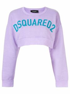 Dsquared2 cropped logo sweatshirt - PURPLE