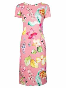 Carolina Herrera floral print fitted dress - Pink