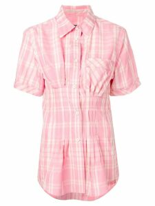 Isabel Marant checked SS blouse - PINK