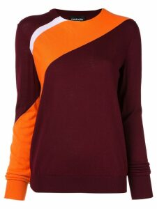 Calvin Klein 205W39nyc two-tone jumper - Red