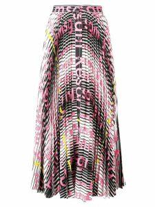 MSGM mix print pleated skirt - Pink