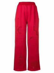 Stella McCartney panelled cut out trousers - Red