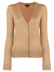 Theory v-neck cardigan - Brown