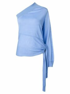 Stella McCartney one shoulder fine knit top - Blue